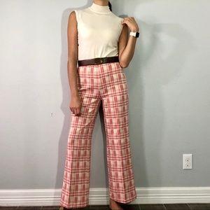 70's plaid pants